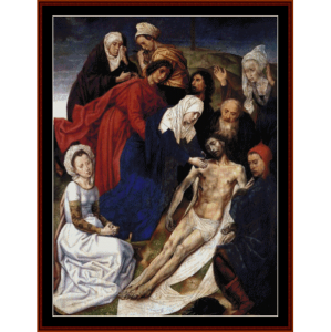the lamentation of christ - van der goescross stitch pattern by cross stitch collectibles