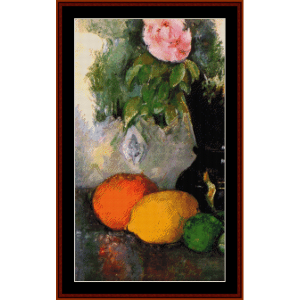 flowers and fruit - cezanne cross stitch pattern by cross stitch collectibles