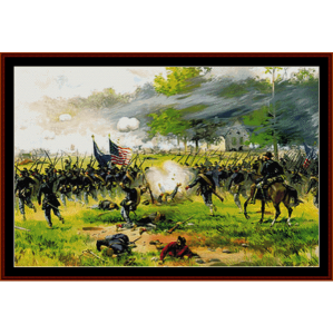 battle of antietam - american history cross stitch pattern by cross stitch collectibles