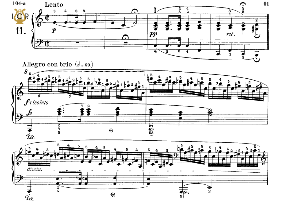 First Additional product image for - Etude Op.25 No.11 in A minor, F.Chopin, Scholtz, Ed.C.F.Peters (1904), A5, Tablet Edition (Landscape), 16pp