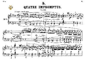Impromptu Op.142 No.1 in F minor, F.Schubert, Ed.Breitkopf, M.Pauer (1928). Tablet Edition (A5 Landscape), 18pp   eBooks   Sheet Music