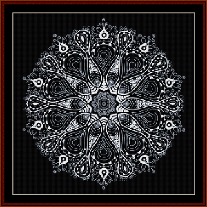 fractal 529 cross stitch pattern by cross stitch collectibles