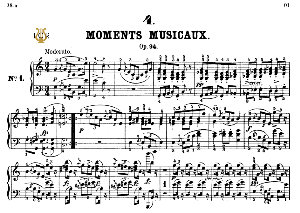 moment musical op.94 no.1 in c major, f.schubert, ed.breitkopf, m.pauer (1928). tablet edition (a5 landscape), 6pp