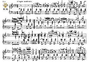 moment musical op.94 no.3 in f minor, f.schubert, ed.breitkopf, m.pauer (1928). tablet edition (a5 landscape), 2pp