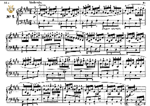 moment musical op.94 no.4 in c-sharp minor, f.schubert, ed.breitkopf, m.pauer (1928). tablet edition (a5 landscape), 8pp