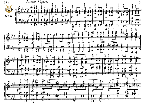 moment musical op.94 no.5 in f minor, f.schubert, ed.breitkopf, m.pauer (1928). tablet edition (a5 landscape), 3pp