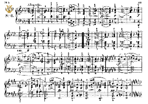 moment musical op.94 no.6 in a-flat major, f.schubert, ed.breitkopf, m.pauer (1928). tablet edition (a5 landscape), 3pp