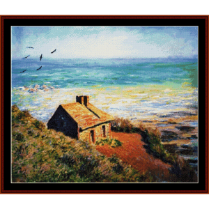 the custom's house, morning effect - monet cross stitch pattern by cross stitch collectibles