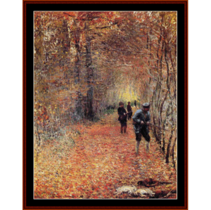 the shoot, 1876 - monet cross stitch pattern by cross stitch collectibles