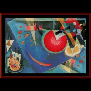 Blue - Kandinsky cross stitch pattern by Cross Stitch Collectibles | Crafting | Cross-Stitch | Wall Hangings