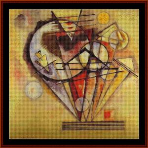On the Points, 1928 - Kandinsky cross stitch pattern by Cross Stitch Collectibles | Crafting | Cross-Stitch | Wall Hangings