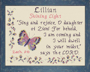 Name Blessings -  Lillian | Crafting | Cross-Stitch | Other