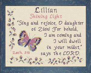 name blessings -  lillian