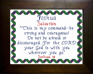 Name Blessings -  Joshua 5 | Crafting | Cross-Stitch | Religious