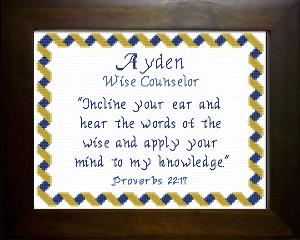 name blessings -  ayden