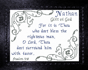 Name Blessings -  Nathan | Crafting | Cross-Stitch | Other
