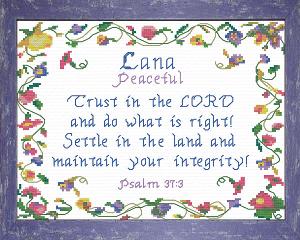 name blessings -  lana