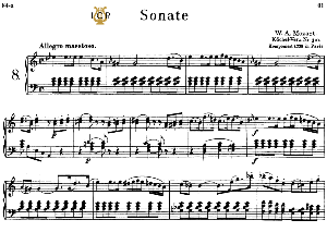 Piano Sonata No.8, K.310 in A minor, W.A Mozart, Breitkopf Urtext, Reprint Kalmus, Tablet Edition (A5 Landscape), 26pp | eBooks | Sheet Music