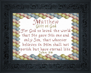 Name Blessings -  Matthew 2 | Crafting | Cross-Stitch | Religious