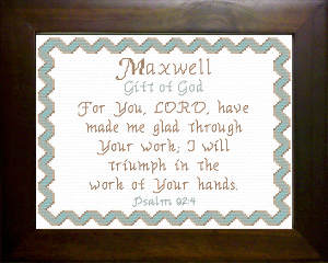 name blessings -  maxwell