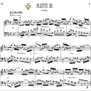 French Suite No.3 in B minor, BWV 814, J. S. Bach, Bischoff Urtext, Ed. Breitkopf Reprint Kalmus, Tablet Edition, A5 (Landscape), 12pp | eBooks | Sheet Music