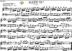 french suite no.6 in e major, bwv 817, j. s. bach, bischoff urtext, ed. breitkopf reprint kalmus, tablet edition, a5 (landscape), 14pp