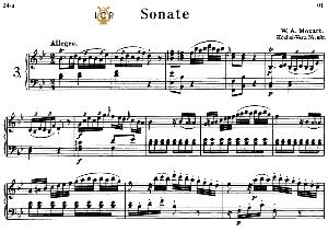 Piano Sonata No.3, K.281 in B-Flat Major, W.A Mozart, Breitkopf Urtext, Reprint Kalmus, Tablet Edition (A5 Landscape), 18pp | eBooks | Sheet Music