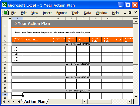 First Additional product image for - Action Plan Template