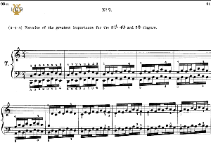 lesson no. 7 (3-4-5), the virtuoso pianist, part 1, ch.hanon, ed. schirmer (pd), tablet edition, a5 landscape, 2pp
