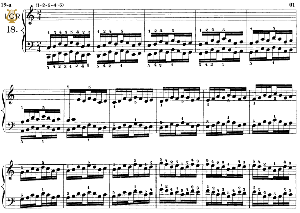 lesson no.19 (1-2, 3-4-5), the virtuoso pianist, part 1, ch.hanon, ed. schirmer (pd), tablet edition, a5 landscape, 2pp