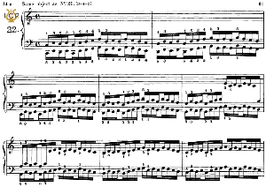 lesson no. 22 (3-4-5), the virtuoso pianist, part 2, ch.hanon, ed. schirmer (pd), tablet edition, a5 landscape, 3pp