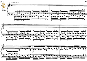 lesson no. 25 (1-2-3-4-5), the virtuoso pianist, part 2, ch.hanon, ed. schirmer (pd), tablet edition, a5 landscape, 3pp