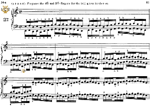 lesson no. 27 (1-2-3-4-5), the virtuoso pianist, part 2, ch.hanon, ed. schirmer (pd), tablet edition, a5 landscape, 3pp