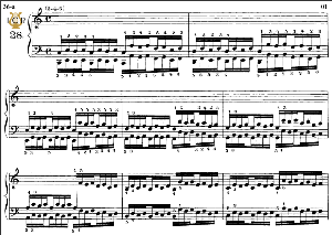 lesson no. 28 (3-4-5), the virtuoso pianist, part 2, ch.hanon, ed. schirmer (pd), tablet edition, a5 landscape, 3pp