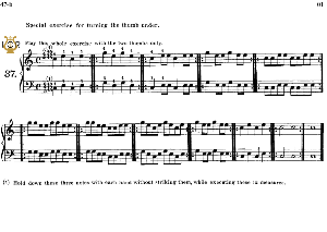 Lesson No.37 (Special exercise for turning the thumb under), The Virtuoso Pianist, Part 2, Ch.Hanon, Ed. Schirmer (PD), Tablet Edition, A5 Landscape, 1p | eBooks | Sheet Music