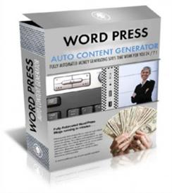 Wordpress Auto Content Generator With Master Resale Rights | Software | Internet
