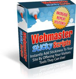webmaster sticky scripts  with mrr
