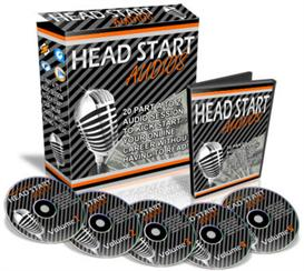 Head Start Audios For Internet marketing With MRR | Software | Audio and Video