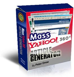 mass yahoo blog 360 article generator with resale rights