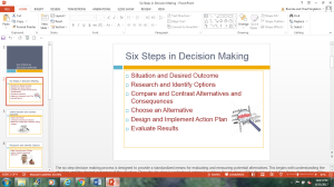 six steps in decision making