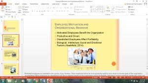 employee motivation and organizational behavior