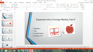 power point presentation of expansion into a foreign market, part ii