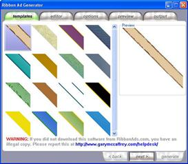ribbon ads generator eye popping banners (mrr)