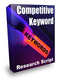 competitive keyword research script with resale rights