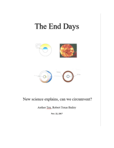 the end days. new science explains, can we circumvent?