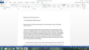 Political Science Discussion Week 8 | Documents and Forms | Other Forms