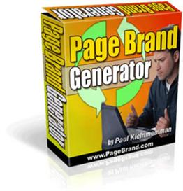 page brand generator with resale rights