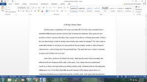 is biology destiny? paper