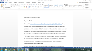 Political Science Milestone Week 3: Supporting Media | Documents and Forms | Other Forms