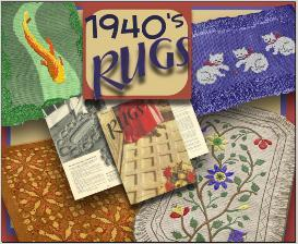 1940's rug patterns - make them yourself!